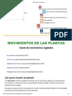 Movimientos de las plantas
