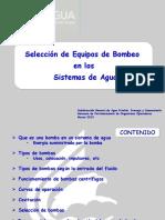 SELECCIÓN DE EQUIPOS DE BOMBEO EN LOS SISTEMAS DE AGUA