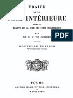 Traite de La Paix Interieure Suivi Du Traite de La Joie de l Ame Chretienne 000001223