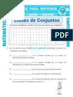 Ficha Clasificacion de Conjuntos Para Cuarto de Primaria