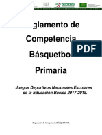 Primaria - BASQUETBOL - Reglamento