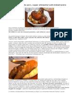 Picioarele de porc, super alimentul anti-imbatranire