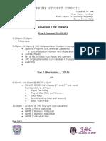 Schedule of Event