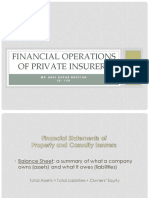 Financial Operations of Private Insurers