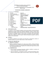 Silabo de Concreto Armado II (Unc Jaen 2019-V)