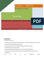 2018 Maths Form 4 Term 1