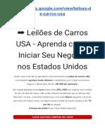 Leilões de Carros USA - Aprenda Como Iniciar Seu Negocio Nos Estados Unidos