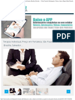 Terapia Individual, Preço Em Fortaleza, São Paulo, Rio de Janeiro, Brasília, Sa