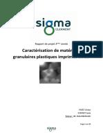 Rapport Projet Ingénieur 3ème année Dupret-Fritz