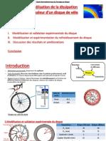 Présentation TIPE - Modélisation de la dissipation de chaleur d'un disque de vélo