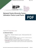 Demand and Diversity Factors