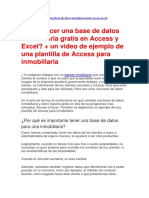 Cómo Hacer Una Base de Datos Inmobiliaria Gratis en Access y Excel