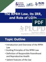 RPRH, Role of LGUs
