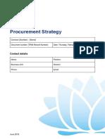 Procurement Strategy 1