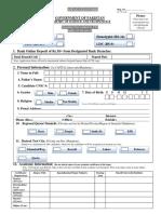 Application Form MoS&T