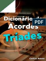 Dicionário de Acordes Para Teclado Tríades