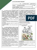 Avaliaçao Sociologia 4º Bimestre 2º Ano