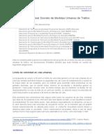 Alegaciones al Real Decreto de Medidas Urbanas de Tráfico DGT