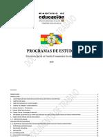 Programas de Estudio Eifc 2019-1