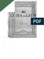 40 Liçoes de Latim