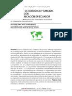 Promocion de Derechos Y Sancion en la Ley de Comunicación de Ecuador