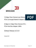 Brocade Adapter v2.3.0.0 Releasenotes