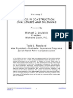 Ethics in Construction Challenges and Dilemmas