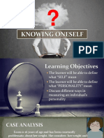 Chapter 2 (Knowing Oneself) - Personal Development SHS