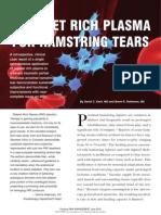 Platelet Rich Plasma for Hamstring Tears, June 2010