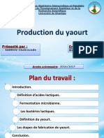 production de yaourt