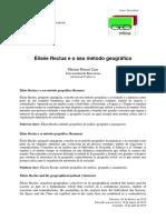 ZAAR, Miriam Hermi. Élisée Reclus e o Seu Método Geográfico
