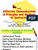 Eff. Comm., Principles & Methods of Instruction