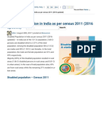 Disabled Population in India as Per Census 2011 (2016 Updated) - Enabled.in