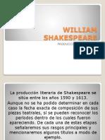 William Shakespeare Producción Dramática