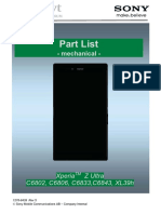 Xperia Z Ultra 1276-6439 Part List Mechanical Rev5