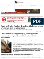 Água & Saúde_ Análise de Potabilidade Nos Poços Artesianos Dos Condomínios