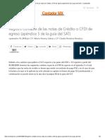 Registro Contable de Las Notas de Crédito o CFDI de Egreso