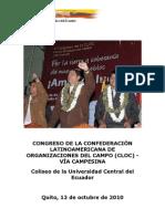 Discurso Correa CLOC - Presidencia