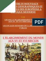 L'ELARGISSEMENT DU MONDE XI ET XVI SIECLES