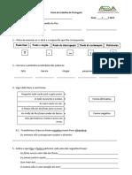 Ficha de Trabalho de Gramática