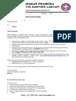 Edaran 2 Peran Saka Daerah Lampung 2015
