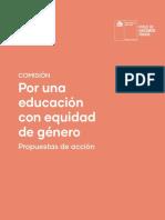 Propuestas de acción - Por una educación con equidad de género