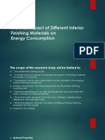 Thermal Impact of Different Interior Finishing Materials On