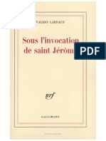 Sous l'invocation de saint Jérôme
