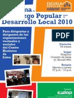 Programa de Formación Liderazgo Popular para el Desarrollo Local 2010 - Afiche