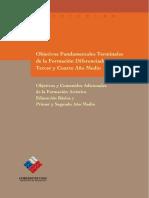 Objetivos Fundamentalrs Terminales de La Formacion Diferenciada Artistica