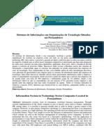Sistemas de Informações Em Organizações de Tecnologia