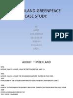 Timberland-greenpeace Case Study