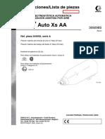 Pistola Electrostatica Automatica de Pulverizacion Neumatica 309298ES-D