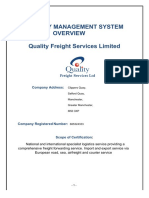 Quality Freight Services Ltd ISO 9001 Quality Manual